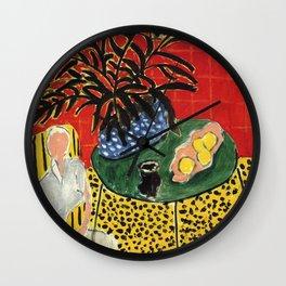 Interior with Black Fern - Henri Matisse Wall Clock
