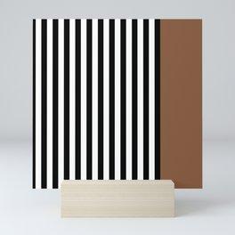 Liquorice allsorts, brown Mini Art Print