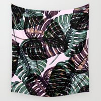 leaf Wall Tapestries featuring Leaf by Burcu Korkmazyurek