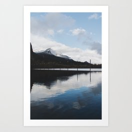 Snow-capped Reflections Art Print