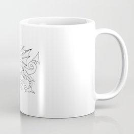 Welsh Dragon Outline Coffee Mug