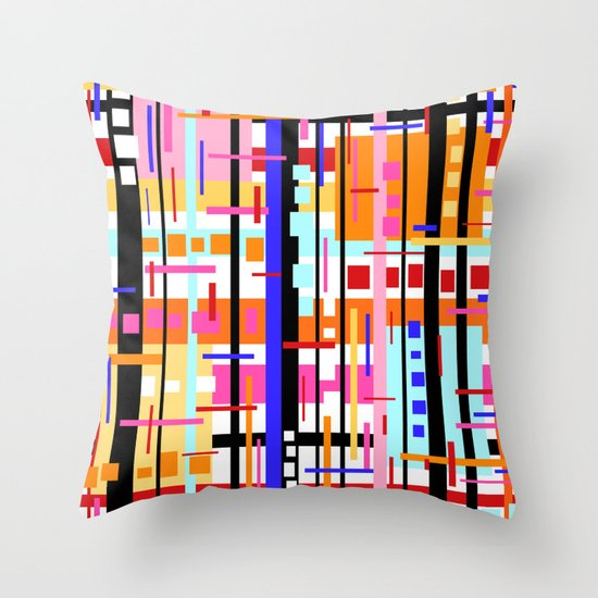 Party at Stripe's House Throw Pillow