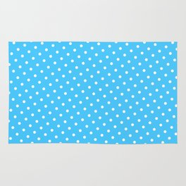 Pastel Goth Pastel Blue Retro Polka Dot (White) Rug