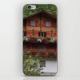 Swiss Alpine Chalet in Valais Switzerland iPhone Skin