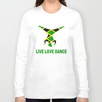 jamaica Long Sleeve T-shirts featuring Jamaica Jamaica Jamaica by cleopetradesign.com