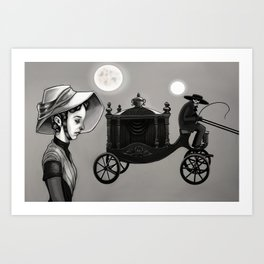 He Kindly Stopped for Me Art Print