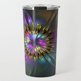 Fantasy Flower Fractal Travel Mug