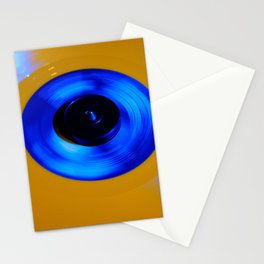 Yellow Blue Record Stationery Cards