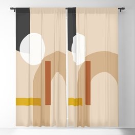 geometric abstract 71 Blackout Curtain