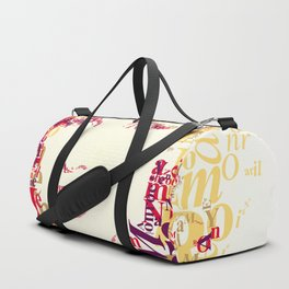 Typographic image Monroe Duffle Bag