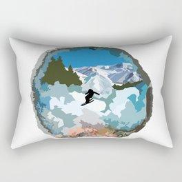 The Skier Rectangular Pillow
