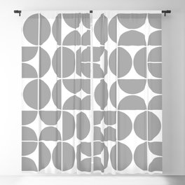 Mid Century Modern Geometric 04 Grey Blackout Curtain