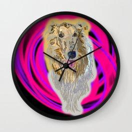 Standard Collie Wall Clock