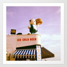 Ice Cold Beer, Coney Island Art Print