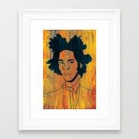 basquiat Framed Art Prints featuring Basquiat by Angela Vasquez