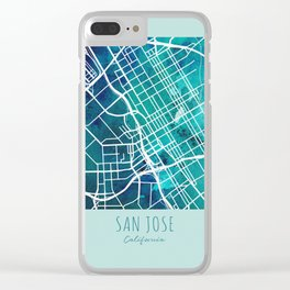 San Jose City Map Clear iPhone Case