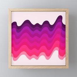 Retro Ripple in Pinks Framed Mini Art Print