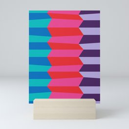 Abstract Stripes in Pink and Red Mini Art Print