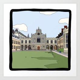 Cambridge Struggles: Peterhouse College Art Print