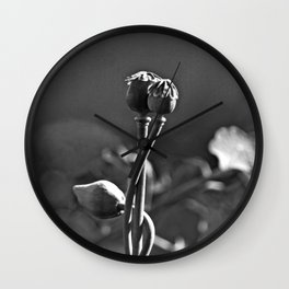Floral Embrace - Poppy Wall Clock