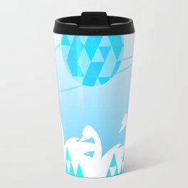 Blue Swan Lake Travel Mug