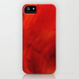 Red glass iPhone Case