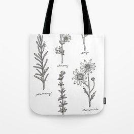 Kitchen Herbs Tote Bag
