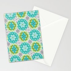 Geodome - Green Stationery Cards