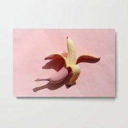 Pink banana Metal Print