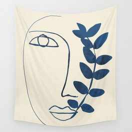 Abstract Face 5 Wall Tapestry