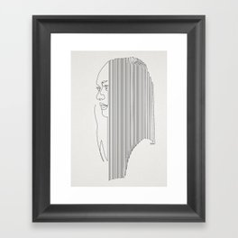One Hairy Line Framed Art Print