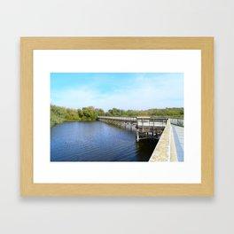 Lake front Framed Art Print