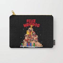Feliz Navidog - Feliz Navidad - Pug Owner Xmas Carry-All Pouch