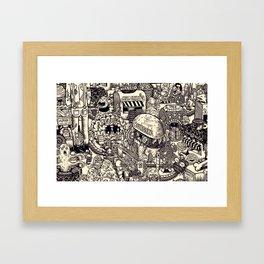 Monster Mart Framed Art Print