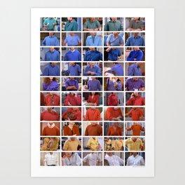 Seinfeld in Color 1 Art Print