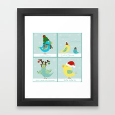 Christmas Birdie Patches Framed Art Print