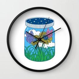 Little jar of happiness Wall Clock