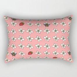 Precious Bee Pattern Pink Rectangular Pillow