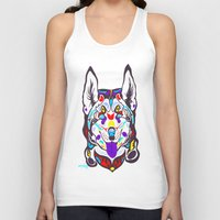 husky Tank Tops featuring Husky  by PastelxPalette