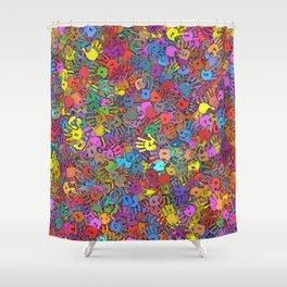 Color handprints Shower Curtain
