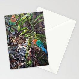 Broadbilled Mot mots with fer de lance Stationery Cards