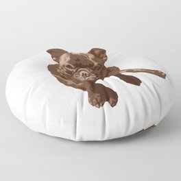 """Mauvaise honte"" French Bulldog Floor Pillow"