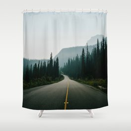 Road trip to the mountains Shower Curtain