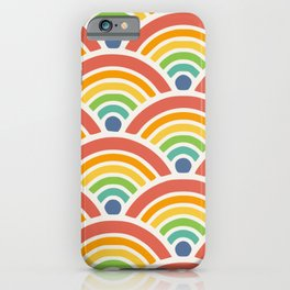 Raibow seigaiha wave iPhone Case