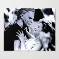 dirty dancing Canvas Prints featuring MICHAEL MYERS IN DIRTY DANCING by Luigi Tarini