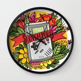 Handheld Video Game Adventure Tattoo Art Wall Clock