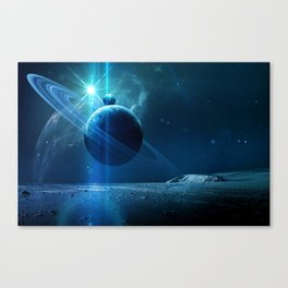 Rock Planet Canvas Print
