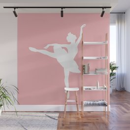 Pink and white Ballerina Wall Mural