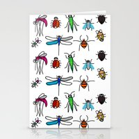bugs Stationery Cards featuring Bugs by Rita Sales Luis
