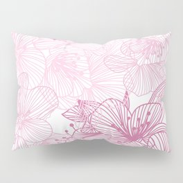 Pink Cherry Blossom Pillow Sham